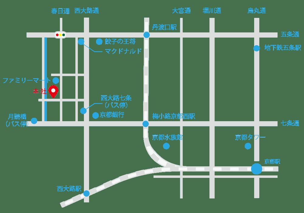 京都樹脂本社地図