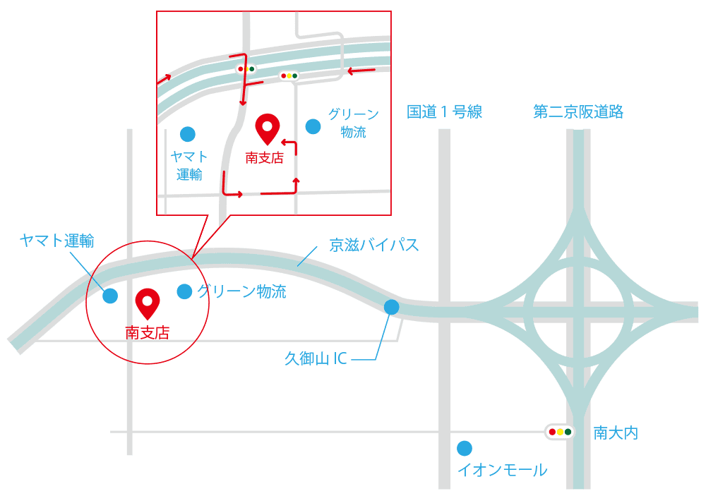 京都樹脂南支店地図